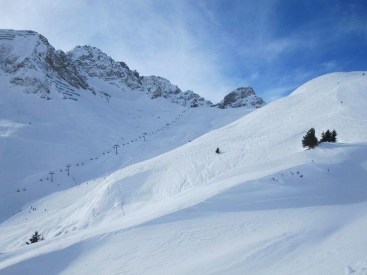 Zróżnicowany teren narciarski Warth-Schröcken