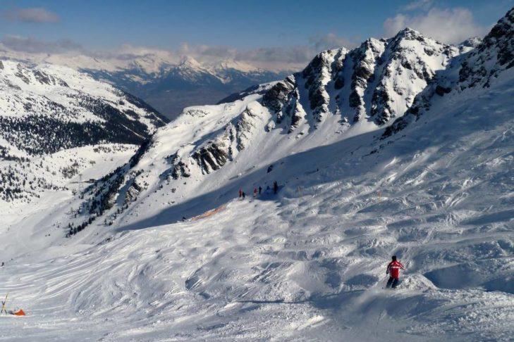 Trasa z muldami w szwajcarskim regionie 4 Vallées.