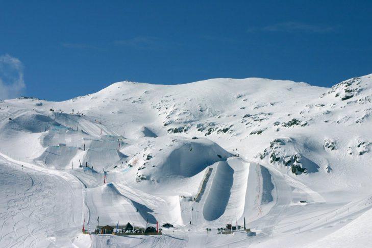 Snowpark w Les 2 Alpes