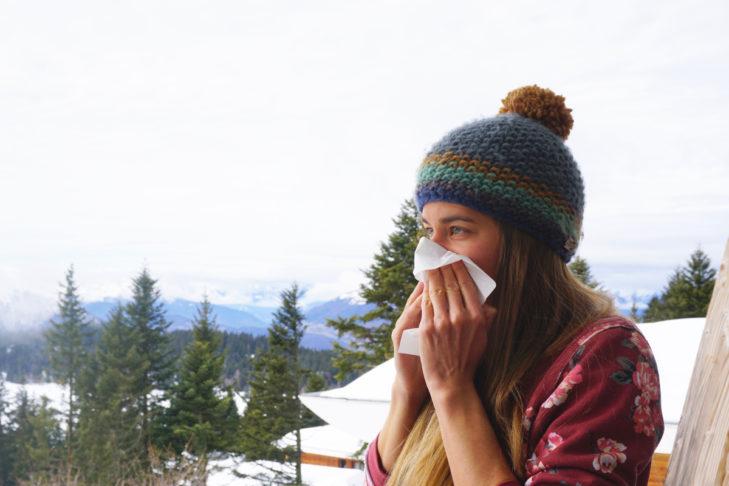 Krwawienie z nosa to powszechny problem w górach.