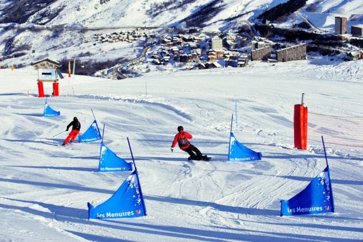 Odcinek do slalomu w Les Menuires.