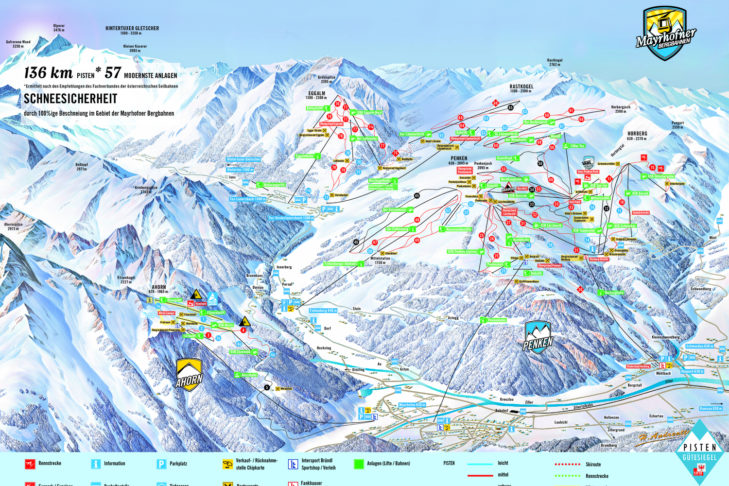 Plan nartostrad Mayrhofen & Hippach