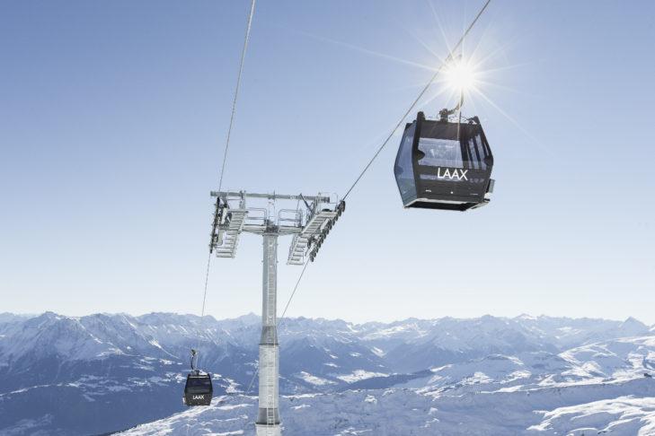 Teren narciarski Laax sięga niemal 3000 m.