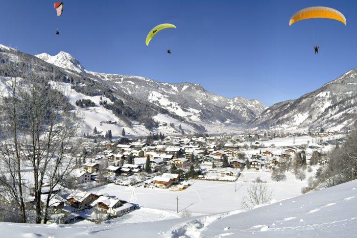 Zimowe krajobrazy w Bad Gastein.