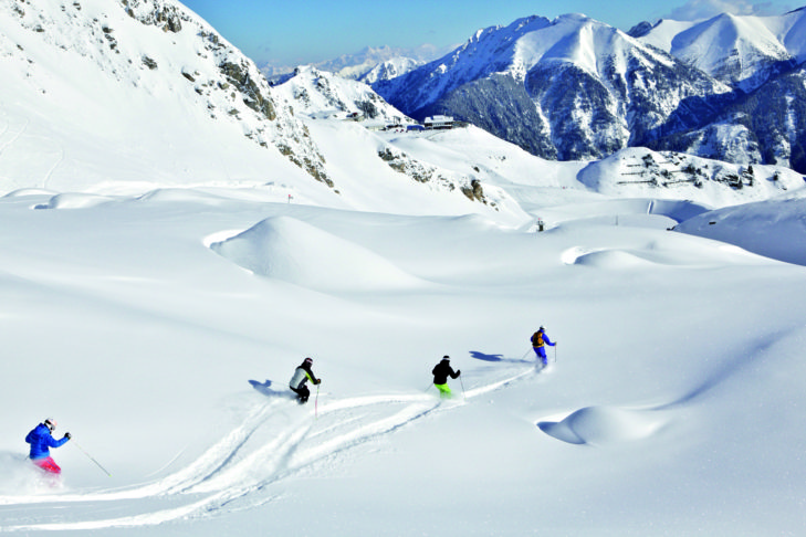 Freeride na terenie narciarskim Gastein.