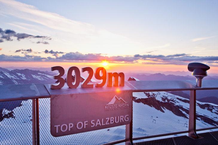 Najwyższy punkt na terenie Kitzsteinhorn jest jednocześnie punktem widokowym.