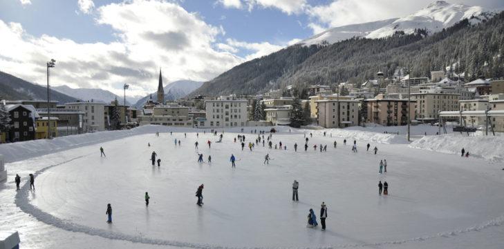 Lodowisko w Davos.