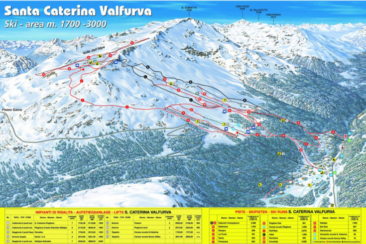 Plan nartostrad Santa Caterina Valfurva.