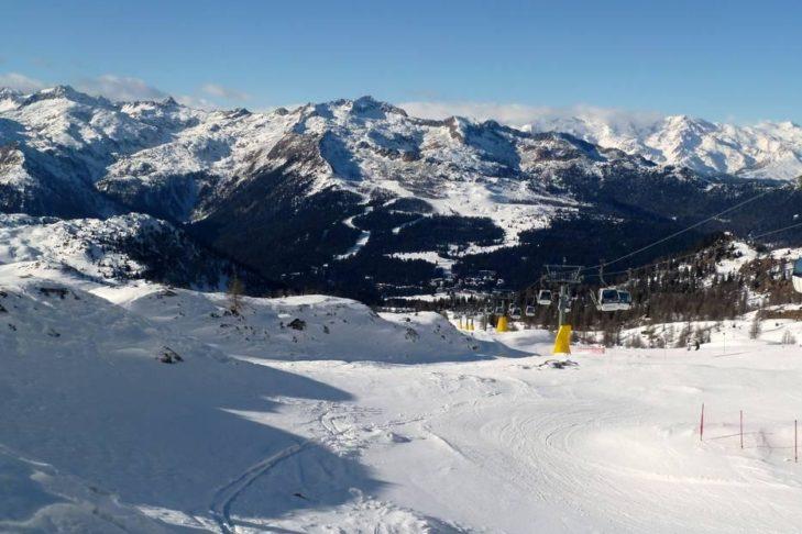 Widok na Dolomity.