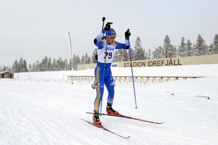 Profesjonalna biegaczka na stadionie w Idre Fjäll.