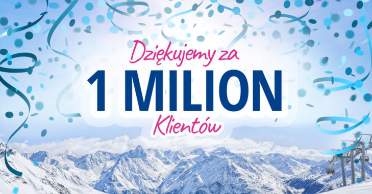 SnowTrex świętuje jesienią 2018 1 milion Klientów.