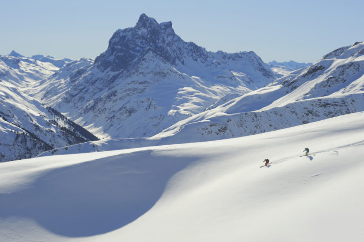 Na terenie narciarskim St. Anton.