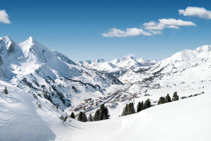 Widok z Obertauern na Radstädter Tauern.