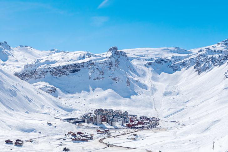 Widok na stację narciarską Tignes