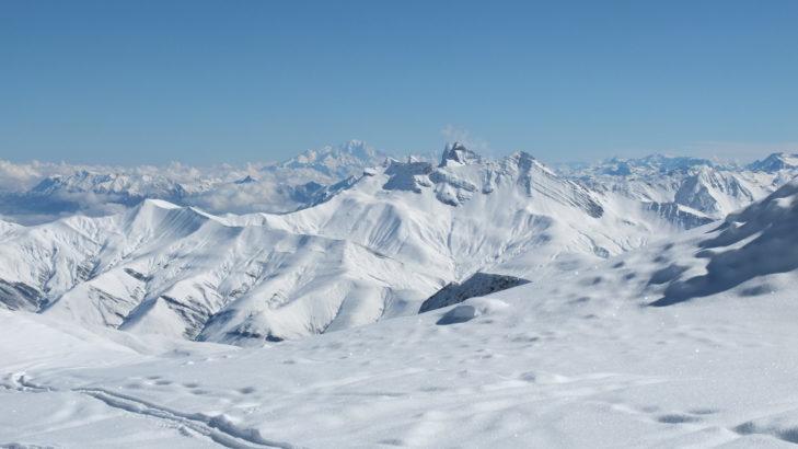 Białe krajobrazy w Les 2 Alpes.