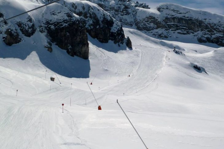"""""""Eleven"""" w Ischgl - najdłuższa trasa do doliny w Austrii."""