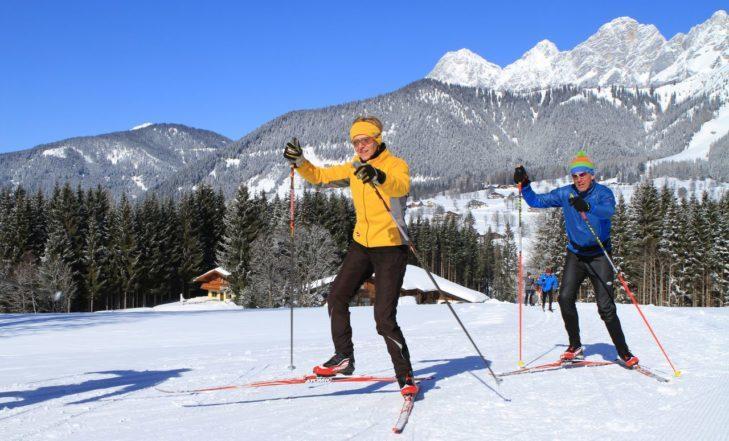 Narciarstwo biegowe wokół Ramsau am Dachstein.