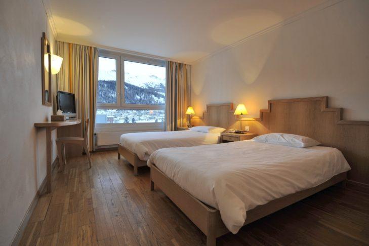 Komfortowe pokoje w Club Med Saint-Moritz Roi Soleil.