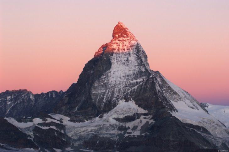 Na Matterhorn znajduje się najwyższy teren narciarski w Szwajcarii.
