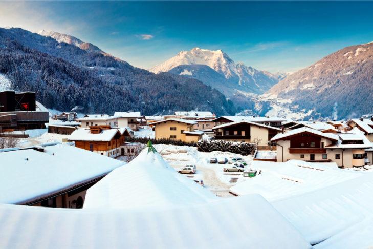 Widok na ośrodek Mayrhofen.