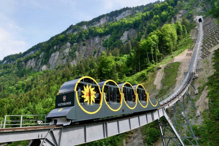 Najbardziej stroma kolejka w Alpach - Stoosbahn.
