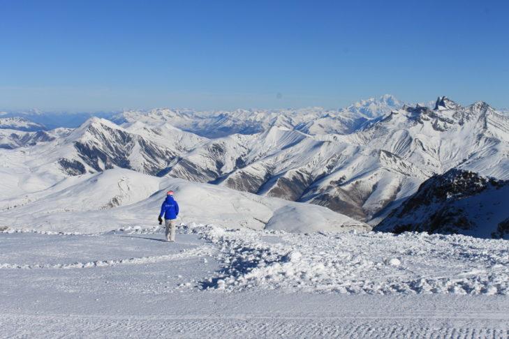 Widok panoramiczny na terenie Les 2 Alpes.