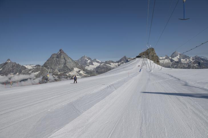 Najwyżej położona trasa w Alpach znajduje się w Zermatt.