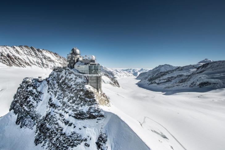 Jungfraujoch to najwyżej położona górska stacja.