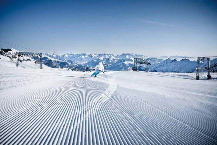 Idealne warunki narciarskie na Kitzsteinhorn.