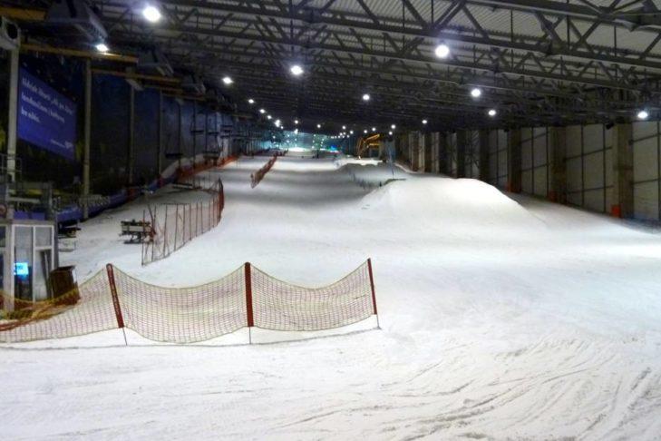 Trasa w hali narciarskiej Druskininkai.