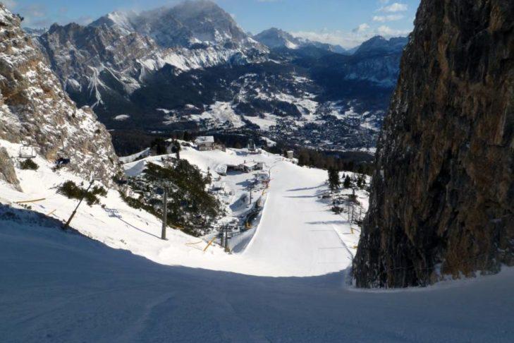 Trasa Pucharu Świata w Cortina d'Ampezzo.