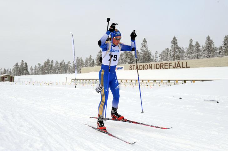 Zawodnik biathlonu w Idre Fjäll.