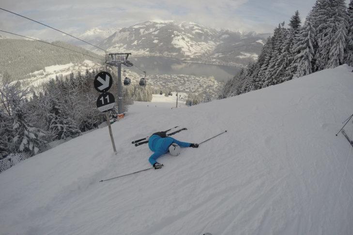 Czarna trasa narciarska okazała się prawdziwym wyzwaniem.
