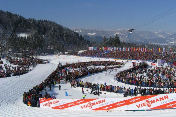Arena do biegówek w Oberstdorf podczas Mistrzostw Świata.