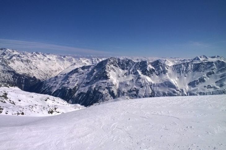 Widok panoramiczny na Ötztal.